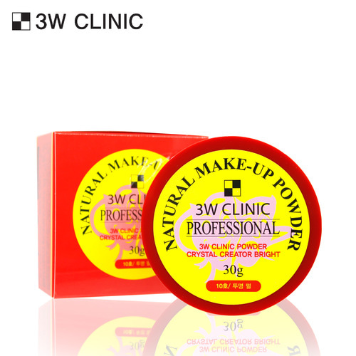 3W CLINIC NATURAL MAKE-UP POWDER 30g (PEARL)