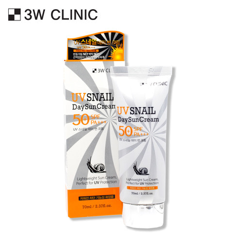 3W CLINIC UV SNAIL DAY SUN CREAM 70ml